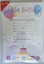 Un pad di 20 Baby's 1ST Compleanno Inviti Con Buste - 1st Compleanno