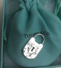 Tiffany & Co Retired Vintage Hammered Lock Sterling Silver Pouch Box & Bow Fast