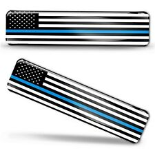 Autocollants 3D Drapeau Etats-Unis Police Blue Line American Flag Sticker Decal