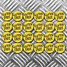 GLUTEN FREE food stickers x 24 stickers measuring 30mm per sticker