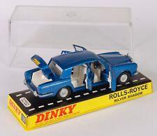 Dinky 158 Rolls-Royce Silver Shadow. Met. Azul. en plástico duro caso. década De 1960