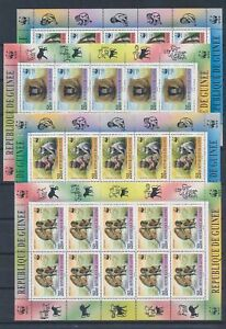 XC57871 Guinea WWF monkeys wildlife sheets MNH