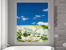 Sichtschutz Fensterfolie Sichtschutzfolie für Badezimmer Schriftzug Home Spa