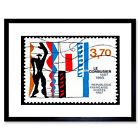 Postage Stamp France 1987 Works Of Le Corbusier Vintage Framed Wall Art Print
