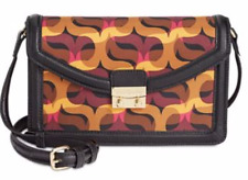 Purse Vera Bradley $128 NWT Orange Pink Black Tess  Modern Lights KE5
