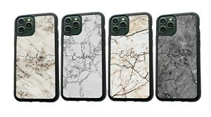 PERSONALISED Any Name Marble Silicone Phone Case For iPhone MAX 11 12 Pro Max 13