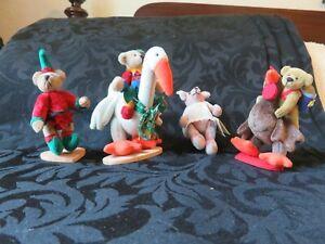 Lot of 3 Little Gem/World of Miniatures, & a Bert Bears: Rex & Rooster, Elfie, G