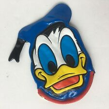 Vintage Walt Disney World Donald Duck Shaped Zippered Coin Purse with Squeaker
