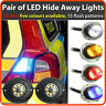 12/24V Covert LED HIDEAWAY Strobe Light Beacons, head or tail installed