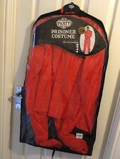 prisoner inmate jail mens fancy dress outfit costume size medium