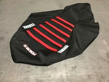 Yamaha Raptor 700 700R  Seat Cover fits years  2006-2019  Black / Red Ribs #193
