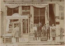 Antique Cabinet Card Photo - AMERICANA Harness & Saddlery, Occupational, Indiana