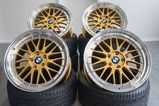 19 UA3 8,5 + 9,5 5x120 Alu Felgen Gold Kombination Le Mans für BMW 135i F10 F11