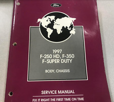 1997 Ford F250 350 F450 550 Super Duty Truck Body Chassis Service Shop Manual