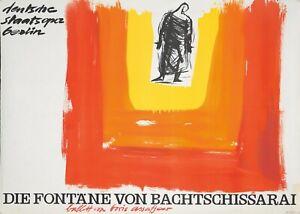 Original Vintage Poster German Bachtschissarai Ballet 1969 Berlin