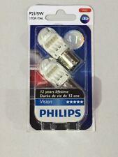 Philips LED Bayonet Bulb - 12V 21/5W BAY15d RED Colour - TWIN PACK - 12836REDB2