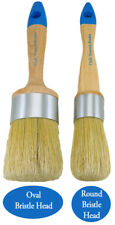 Chalk Paint Furniture Brushes 1 Medium Oval 1 Small Round. Great Pair of Brushes