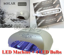 LED Gel Machine 36W Lamp Gel Dryer Curing Light Timer 60, 90, 120sec with bulbs!