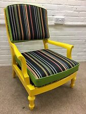 Fully refurbished original Edwardian Chair(Paul Smith fabric, New Zealand woool)