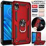 For Motorola Moto E6 / E6 Play / E6 Plus Heavy Duty Shockproof Ring Holder Case