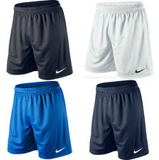 NIKE PARK II SHORTS - BLACK ROYAL NAVY WHITE - DRI FIT FOOTBALL GYM RUNNING