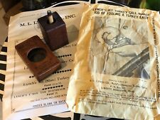 Vintage Turkey Call Lynch Jet Call Miss. with Original Envelope Package
