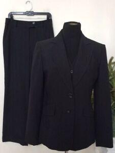 NWT Jones New York Women's Black Stripe 3 Piece Pant Suit Size 6, MSRP $300