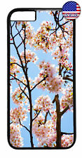 Floral Cherry Blossom Rubber Case Cover For iPhone Xs Max XR X 8 7 6 Plus 5 4