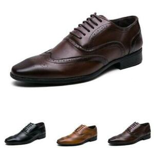 Mens Dress Formal Business Leisure Shoes Oxfords Pointy Toe Work Office Casual D