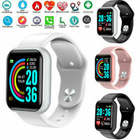 Y68 Waterproof Smart Watch Heart Rate Tracker Fitness Wristband for IOS Android