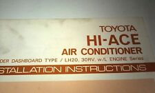 1981 TOYOTA HIACE  Air Conditioning Installation Factory Manual