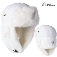 Mad Bomber Supplex Bomber Hat (XL)- White/White Rabbit