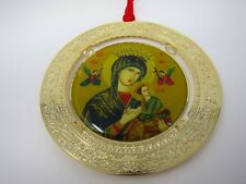 Vintage Christian Christmas Ornament: Mary w/ Jesus Society of the Divine Word
