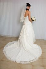 Ivory Wedding Dress Sweetheart Strapless Calabro Design - Ester Style Size 8