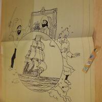 Fac-similé Poster Affiche BD TINTIN Trésor de rackham années 1950 🏷 50x37.5cm😃