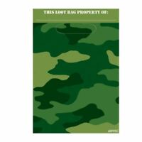 Army Camouflage Party Loot Bag Birthday Party Favours Military Camo