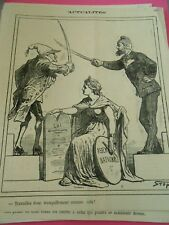 Caricature 1872 - Duel d'épée travaillez donc tranquillement comme cela !
