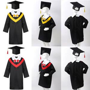 Boys Girls Preschool Primary School Graduation Gown Kids Role Play Costume Wear