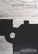 CHILLIDA EDUARDO AFFICHE PRODUITE EN 1990 SIGNÉE FOND LELONG SIGNED POSTER