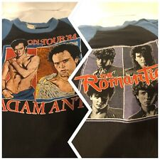 Rare 1984 Adam Ant Strip & The Romantics Concert Baseball T-shirt Adult L
