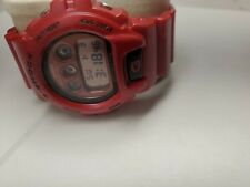 Casio G-Shock DW-6900MF Red Mirrored LCD Fresh Battery Tested Authentic