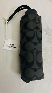 NEW COACH SIGNATURE MINI UMBRELLA-Black Grey-NWT$68