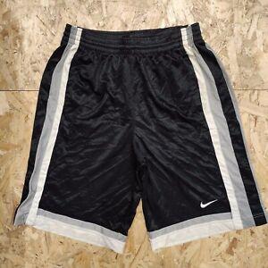 Mens Vintage Nike Black/White/Grey Basketball/Sports Shorts Size Large