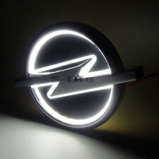 White Auto 5D LED Car Tail Logo Light Badge Emblem Lamp For Opel 13.3cm X 10.1cm