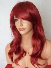 Parrucca ROSSA donna Fashion Parrucca Lunghi Ricci a Buon Mercato Costume Donna Parrucca di capelli naturali P12