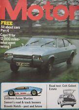 Motor magazine 26/4/1975 featuring Colt Galant road test, Ford Capri