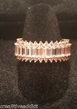 NEW Rose Gold and CZ Channel all around baguette Eternity Ring-Bridal-Band