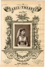Quinet Alexandre, Paris-Théâtre, Mlle Berthe Thibaut, chanteuse  Vintage albumen