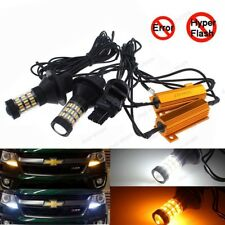 7440 Plug&Play Switchback Dual Color LED Front Turn Signal Light Bulbs as DRL