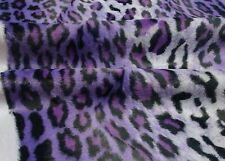 Fabric Animal fur Immitation Faux short Hair Woven Metre Leopard Carnival